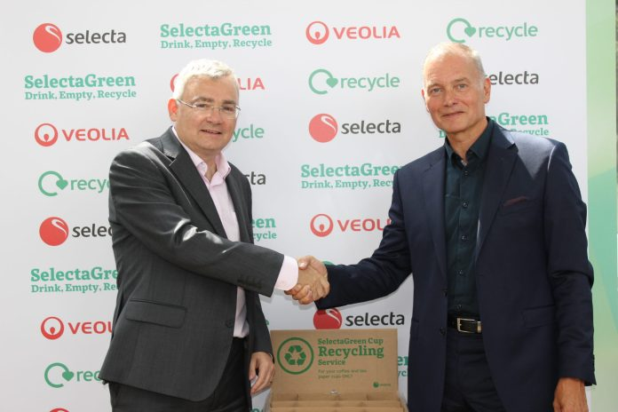 Selecta Veolia coffee cup recycling launch