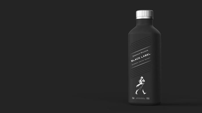 black label paper bottle