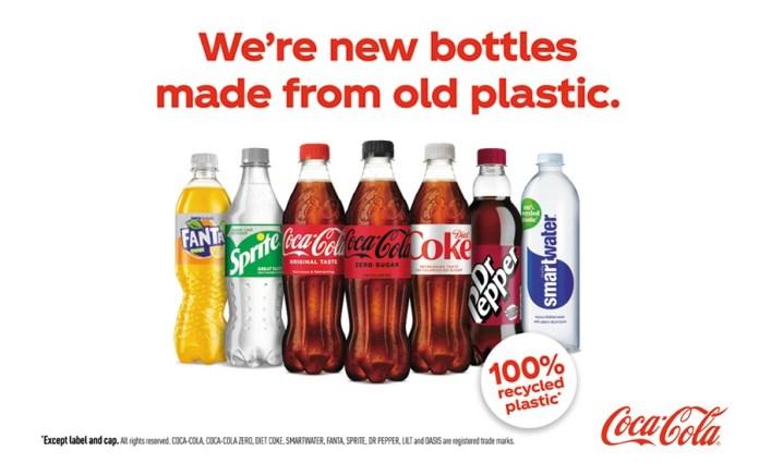 Coca-Cola 100% recycled PET