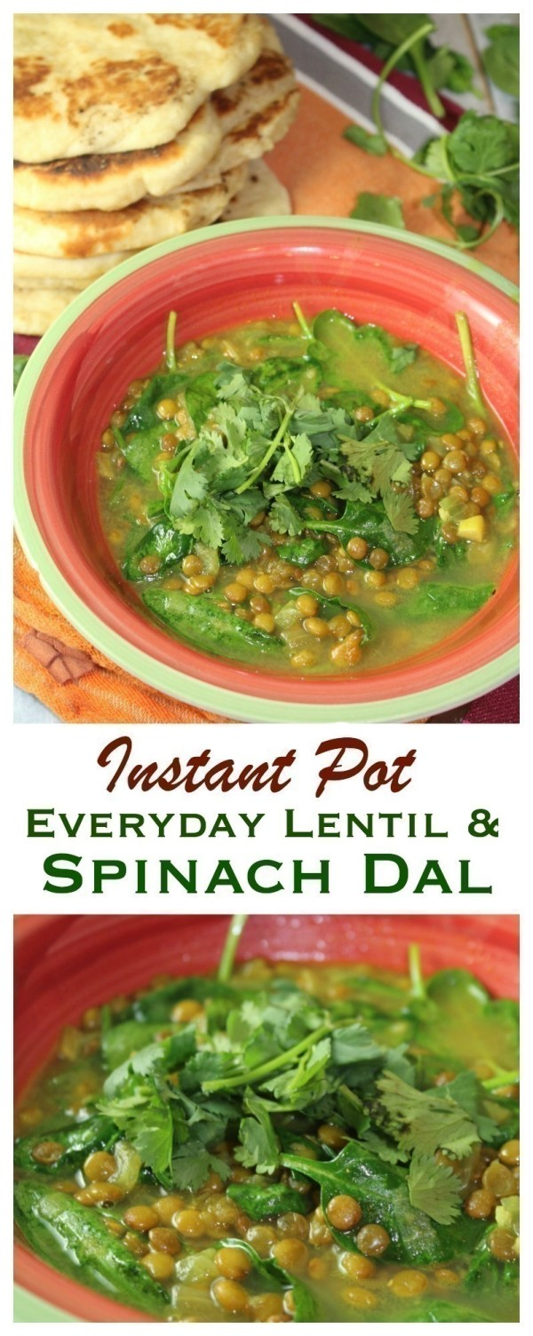 Everyday Lentil & Spinach Dal {Instant Pot}