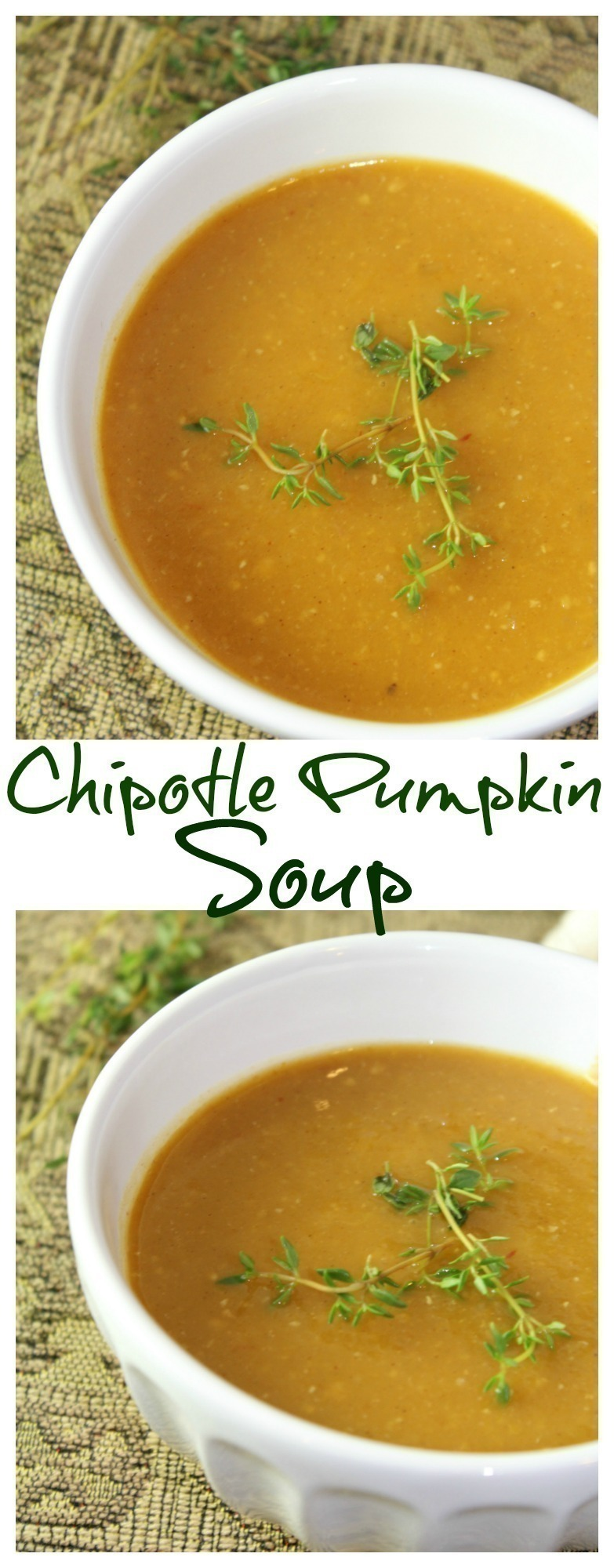 A delicious blend of pumpkin, apples and potatoes taken up a notch with the spicy addition of chipotle peppers.