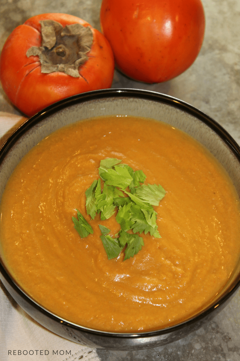 A wholesome and savory soup that combines turmeric and ginger with the fruity taste of persimmons and filling sweet potatoes made in less than 30 minutes in your Instant Pot.
