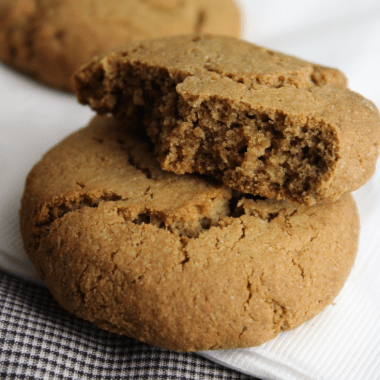 Chewy Ginger Cookies (Gluten-free, Grain-free)