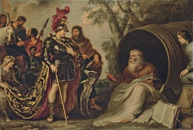 9f02c8027809 Diogenes speaking to young Alexander the Great supposedly told him he had  no king over him