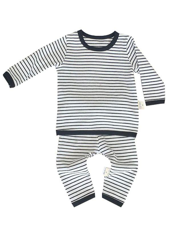 2-Piece Spring Baby Unisex Stripe Homewear Set