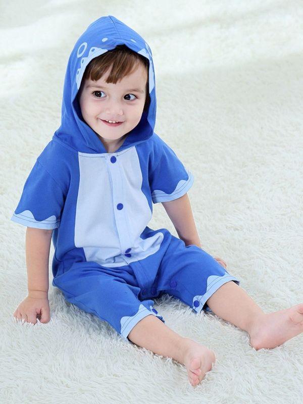 Infant Boy Color Block Short Sleeve Jumpsuit
