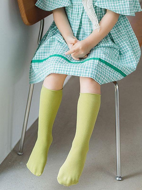 LITTLE GIRL SOLID COLOR SOCKS