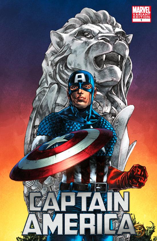 Rare Comics Captain America 2011 1 Tolibao STGCC Variant