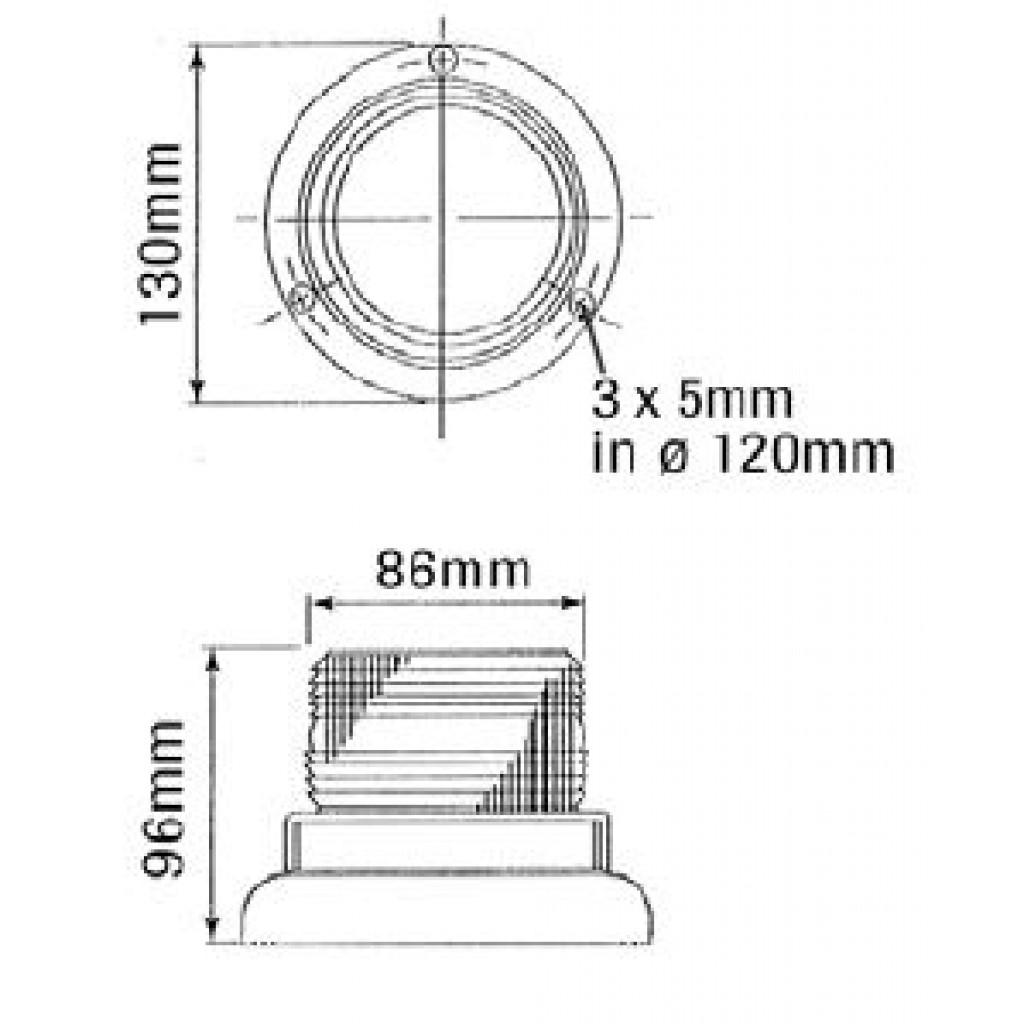 Destellante 12 110 Vdc Pequeno Lampara Incluida