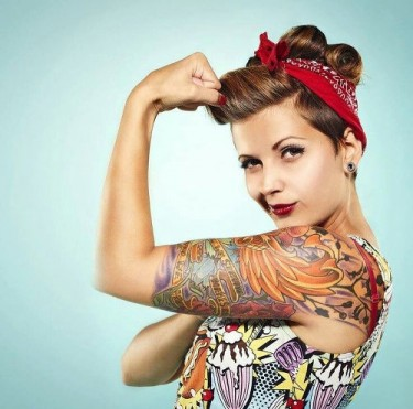 Pin up tatuada