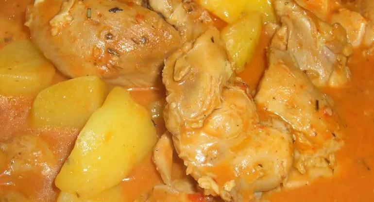 Receita de frango ensopado com batatas