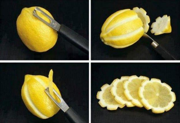 Fazer lindas fatias de limão