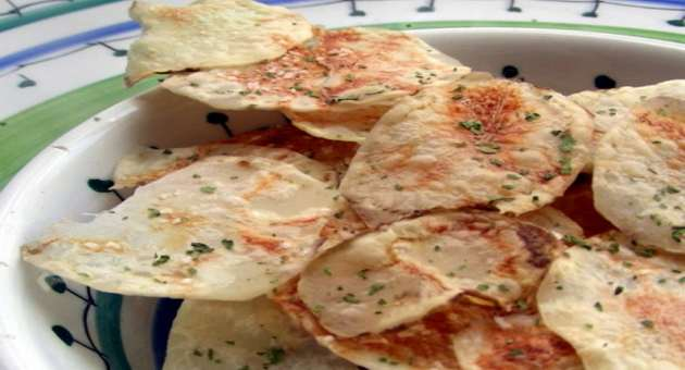 Batata frita no Micro ondas1 - Receita de Bacalhau Grelhado No Azeite