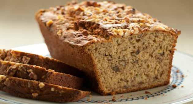 Pão de Banana Com Nozes e Farinha de Amaranto - Bolo de Coco Queimado Com Nozes e Buttertoffee