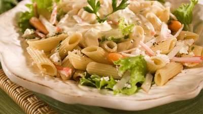 Salada de Penne ao Molho de Laranja - Salada de Penne ao Molho de Laranja