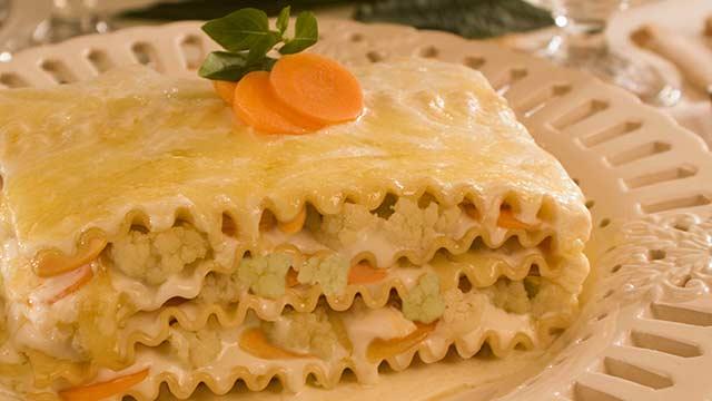 Como fazer Lasanha de Cenoura e Couve-Flor