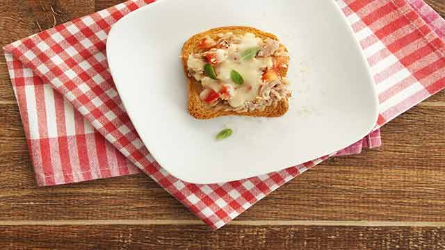 Como fazer Minipizza Light de Atum