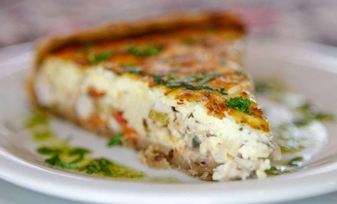 Torta de Legumes com Queijo e Espinafre - Torradas com Creme de Espinafre e Bacon