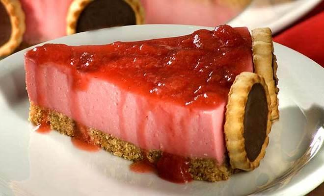 Como fazer Torta Mousse de Morango