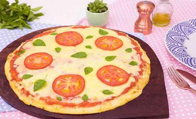Pizza Marguerita de Liquidificador