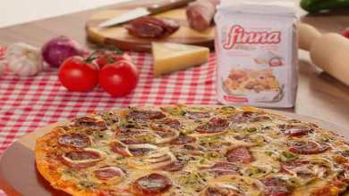 Pizza com Massa de Cachaça e Mel – Recheio Calabresa Picante