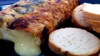 Queijo Brie Em Crosta de Sal e Alecrim