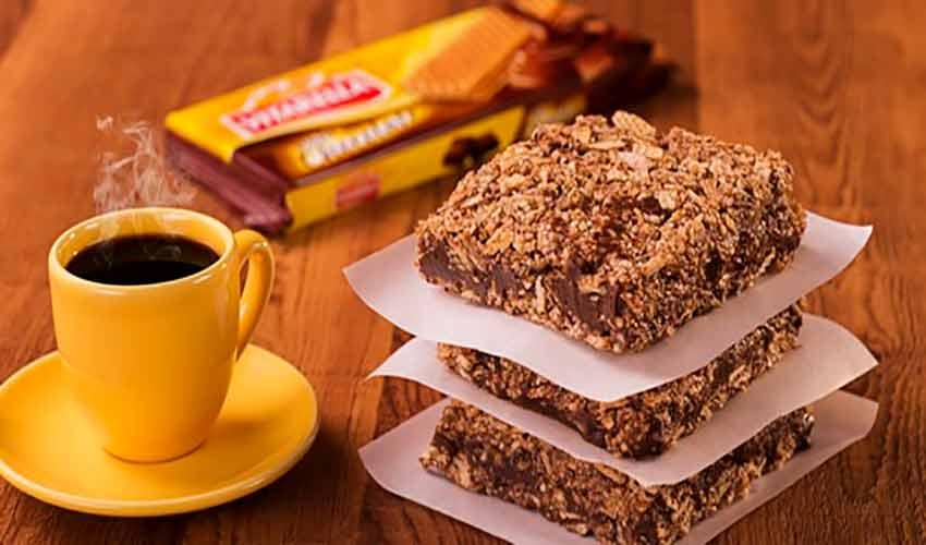 Receita de Barrinha com Biscoito Wafer e Ganache de Chocolate