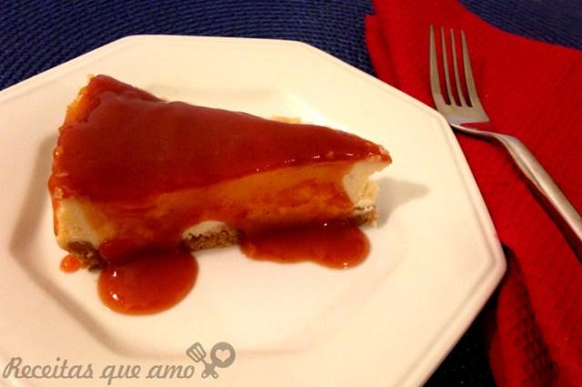 Cheesecake feito com ricota