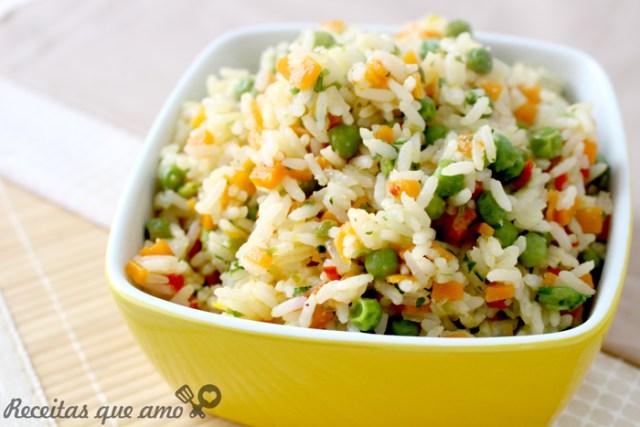 Receita de arroz à grega