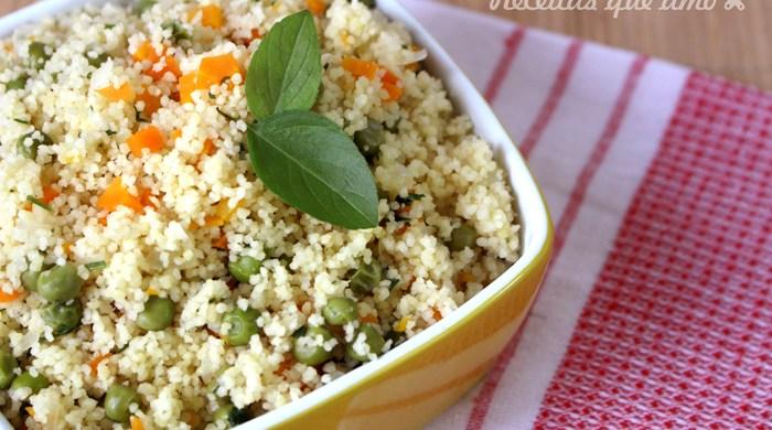 Cuscuz marroquino com vegetais