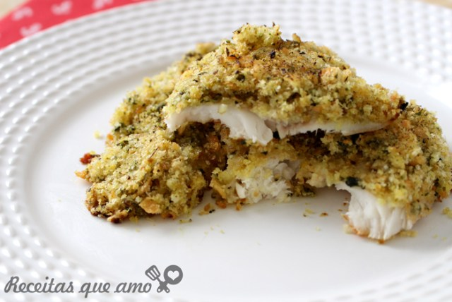 Receita de peixe com crosta crocante