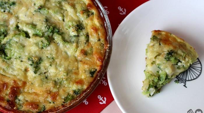 Torta leve de brócolis com queijo