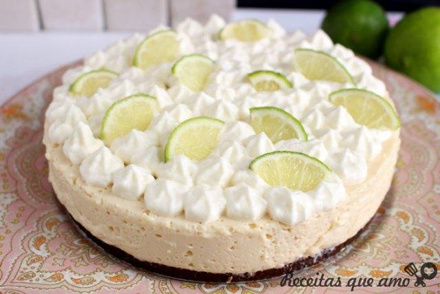Torta de limão sem forno