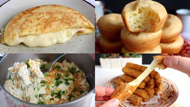 4 receitas rápidas com muito queijo