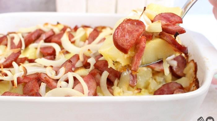 Batata calabresa com queijo