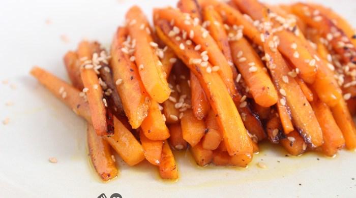 Cenoura glaceada super fácil