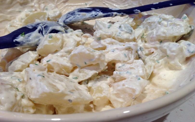 aardappelsalade met ananas