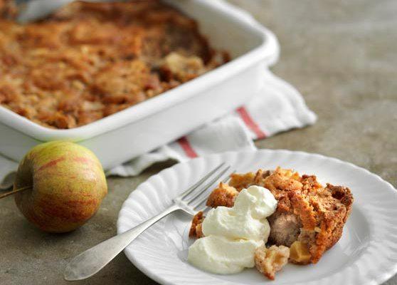 Äppelkaka med pekannötter