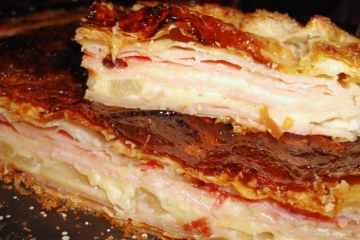 Torta de Jamón, Queso y Ananá