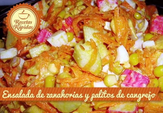 Ensalada de Zanahorias y Palitos de Cangrejo