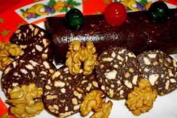 Salchichón de Chocolate sin Dulce de Leche