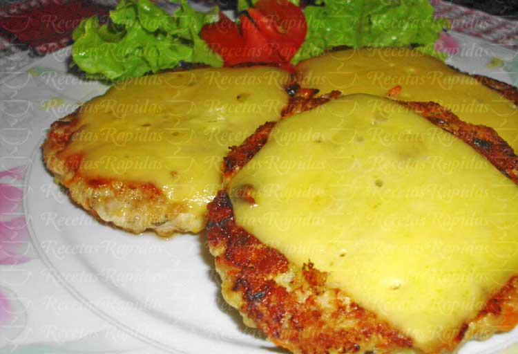 Hamburguesas de pollo con avena fáciles