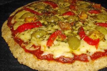 Pizza de Avena sin harina al horno