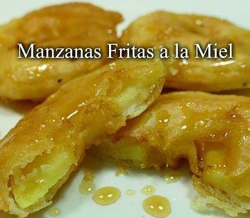 Manzanas fritas a la miel