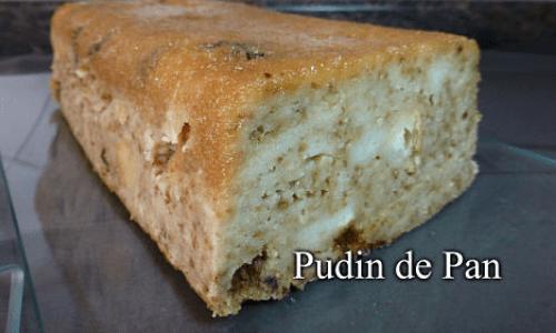 Primer corte del pudin de pan
