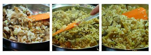 Elaboración del risotto