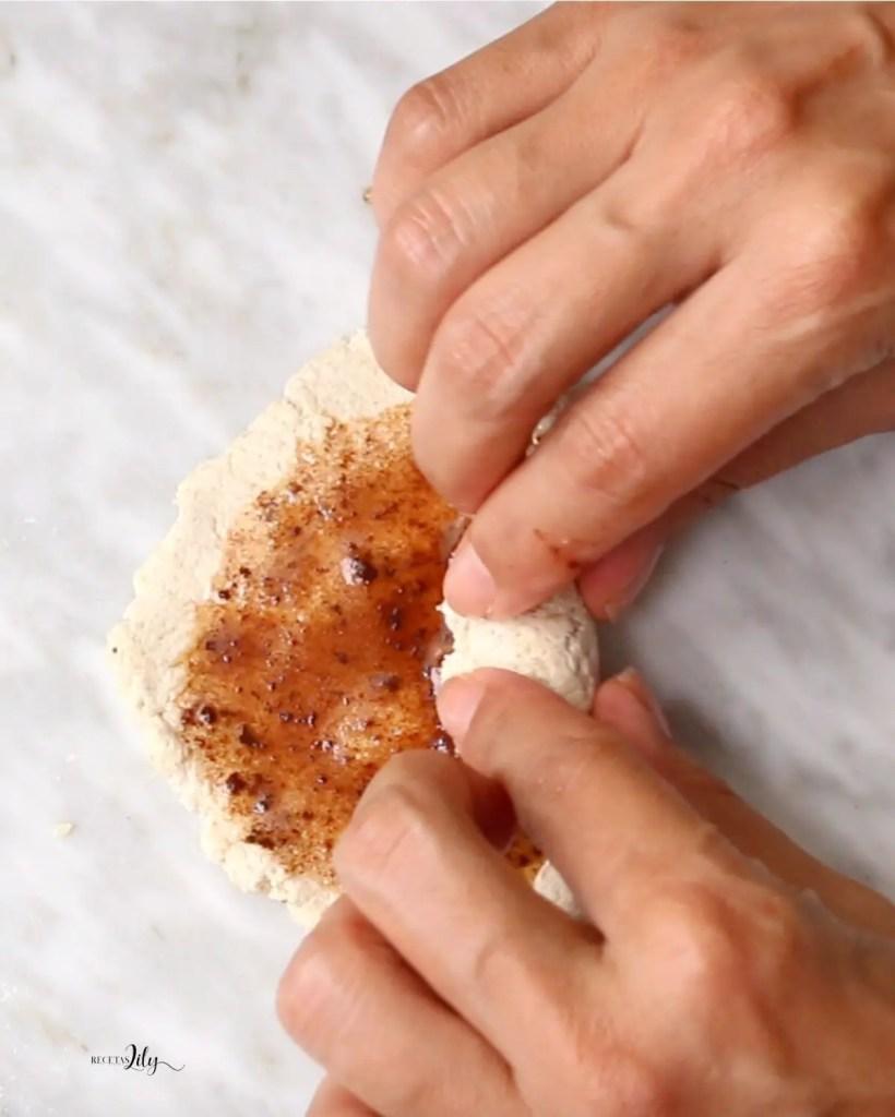 Pan bagel con dos ingredientes
