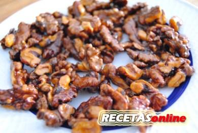 Nueces caramelizadas - Recetas de cocina RECETASonline