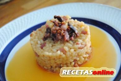 Arroz cremoso de jamón - Recetas de cocina RECETASonline