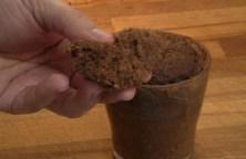 Bizcocho de chocolate en el microondas
